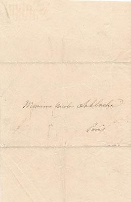 Luigi LABLACHE  lettre autographe signée musique