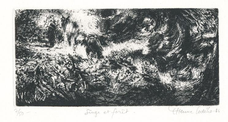 Etienne LODEHO, peintre et graveur français né en 1953 : Sing et forêt