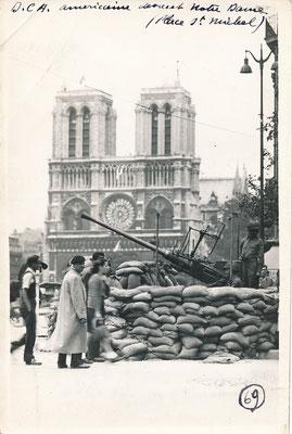 Libération de Paris Notre Dame tirage argentique d'époque achat vente photos CD Galerie