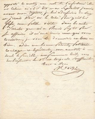 L'affaire Sébastien-Benoît Peytel Moizin lettre autographe signée