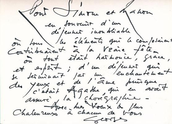 Georges MATHIEU (1921-2012), peintre CD Galerie achat vente autographe envoi