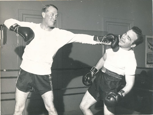 Maurice Chevalier boxe Marcel Cerdan photographie photo