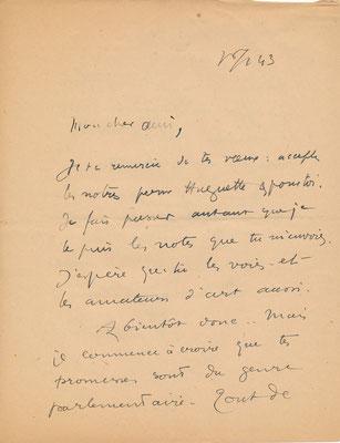 Elie Richard correspondance autographe Germain Delatousche peintre achat vente