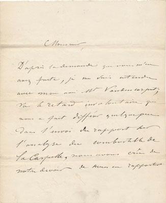 lettre autographe signée Edouard van den Corput