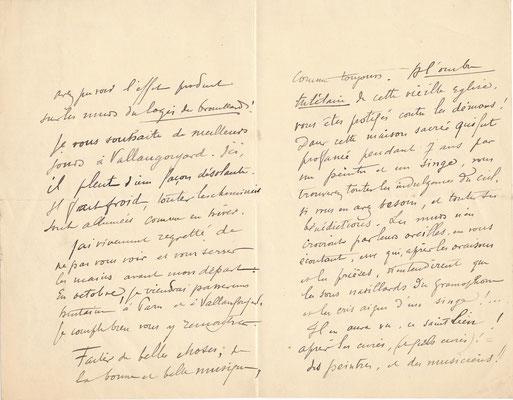 Charles LÉANDRE (1862-1934) chanteur chanson habitation lettre autographe signée