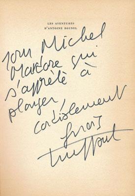 François Truffaut autographe