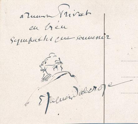 Émile JAQUES-DALCROZE photographien lettre signée dessin Musique