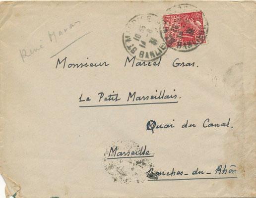 René Maran lettre autographe signée