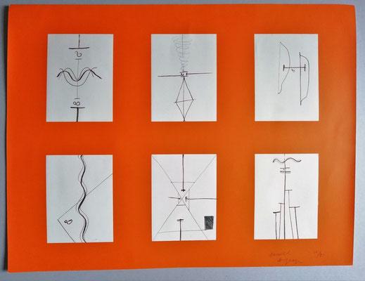 Daniel Dezeuze lithographie