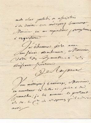 Gérard de Rayneval lettre autographe signée
