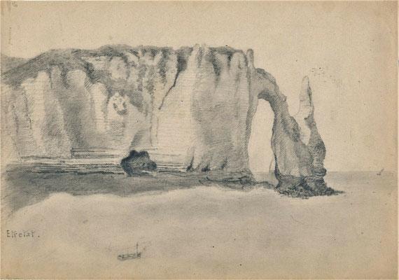 Charles Le Corbeiller dessin Etretat