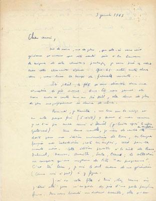 Michel Boutron Correspondance (23 lettres autographes signées) avec son ami l'éditeur lyonnais Ivan Thermac