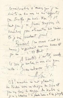 Henri Sauguet lettre autographe signée