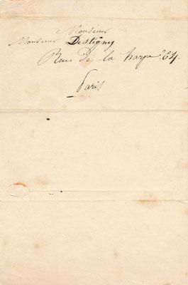 Jean-Bapstiste Adolphe LAFOSSE lettre autographe signée CD Galerie achat vente