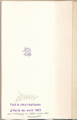 Bernard Noël manuscrit autographe signé