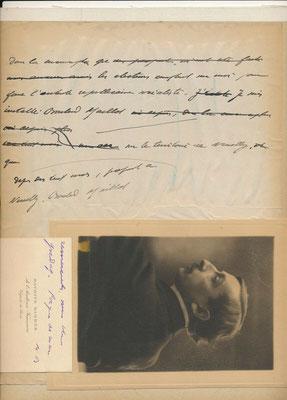 Maurice Barrès manuscrit autographe