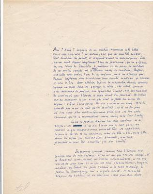 Gérard BAUËR lettre autographe guerre