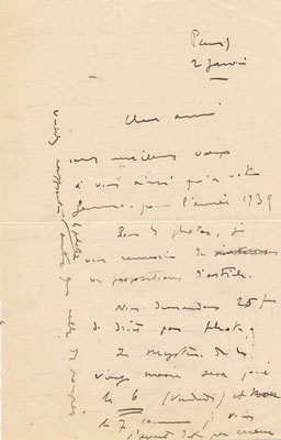 Henri Hérault correspondance autographe signée