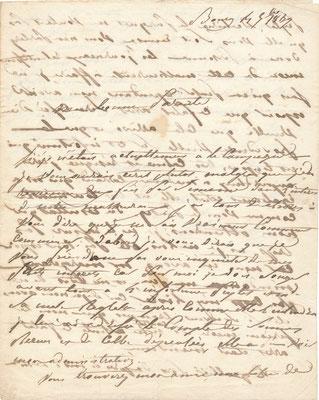 L'affaire Sébastien-Benoît Peytel Moizin lettre autograhe signée