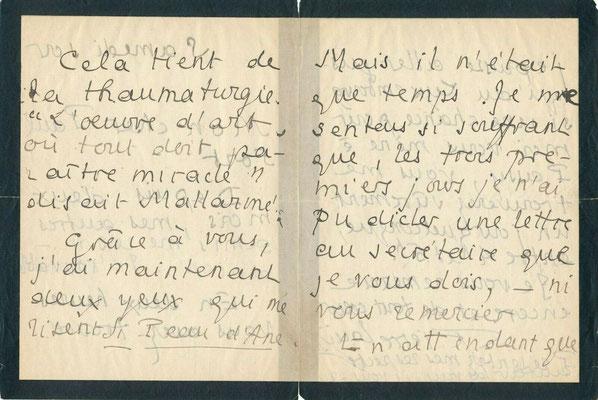 Pierre Louÿs lettre autographe