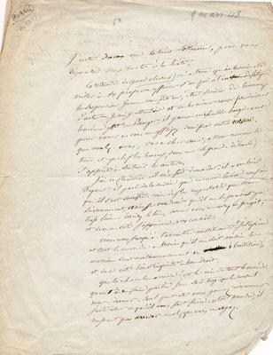 Pierre-Jean Béranger (1780-1857) lettre autographe signée