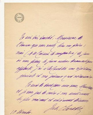 Jules Clarétie lettre autographe signée