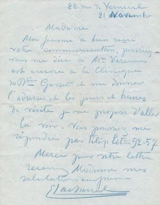 Edmond Lachenal lettre autographe signée