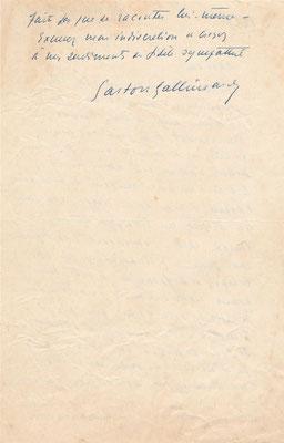 Gaston Gallimard autographe autograph  Maurice ROSTAND  Serge Groussard