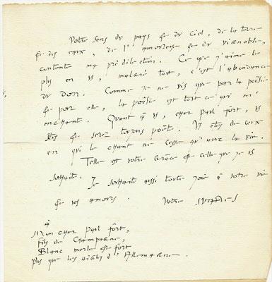 André Suarès lettre autographe signée