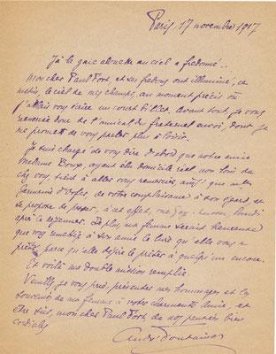 André Fontainas lettre autographe signée