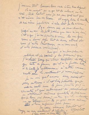 René Jean Clot correspondance autographe peintre