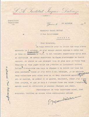Émile JAQUES-DALCROZE photographien lettre signée dessin CD Galerie Achat Vente