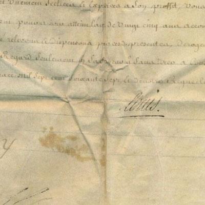 Louis XV signature secrétaire
