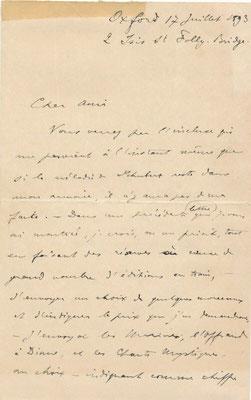 Albert Cahen lettre autographe signée