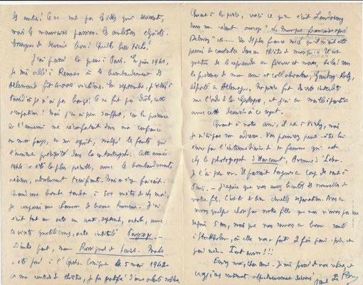 Paul L Flem lettre autographe signée