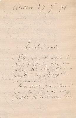 Paul Bert : lettre autographe signée