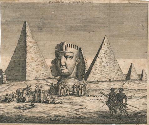 Les pyramides de Gizeh et le sphinx. CORNELIS DE BRUYN (1652-1727)