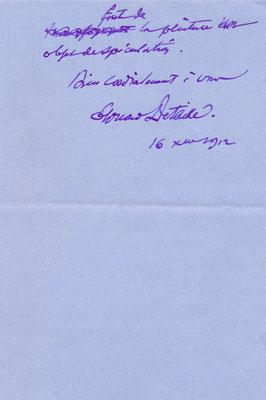 lettre autographe