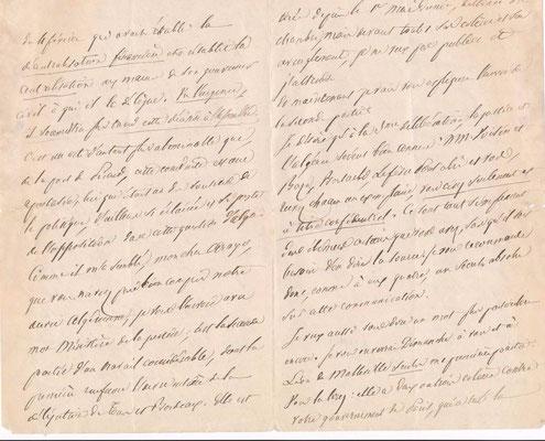 Adolphe Crémieux lettre autographe signée