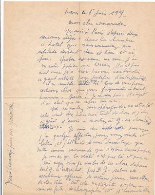 René Jean Clot correspondance autographe CD Galerie achat vente