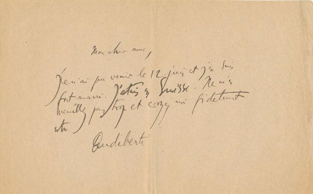 Jacques Audiberti lettre autographe signée