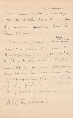 Jean MORÉAS (1856-1910) lettre autographe signée achat vente CD Galerie