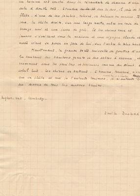 Emile Despax manuscrit autographe signé