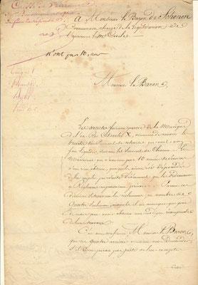 Document signé Plantade, Prahder, Buhl, Guignot