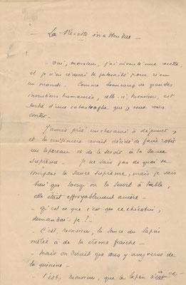 Pierre Bonardi manuscrit autographe signé