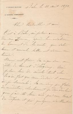 Jean-Jacques UHRICH Guerre de 1870