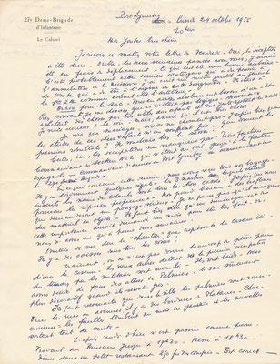 correspondance autographe Louis Dullin Maroc 110 lettres
