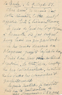 André de Fouquières manuscrit autographe signé