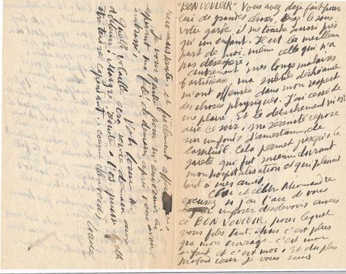 Louise Hervieu lettre autographe signée