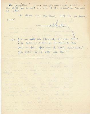 Correspondance (23 lettres autographes signées) avec son ami l'éditeur lyonnais Ivan Thermac